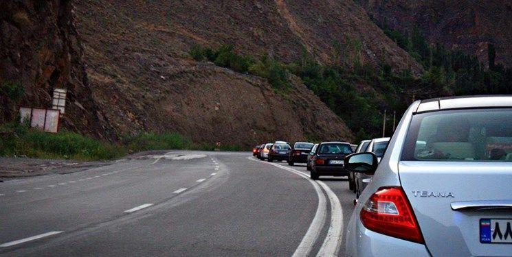 ترافیک نیمه سنگین در راه های مازندران، کندوان 3 روز یکطرفه می گردد