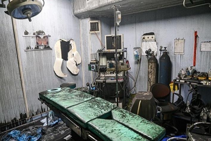 گزارش تصویری از حادثه آتش سوزی کلینیک سینا پس از انفجار مهیب