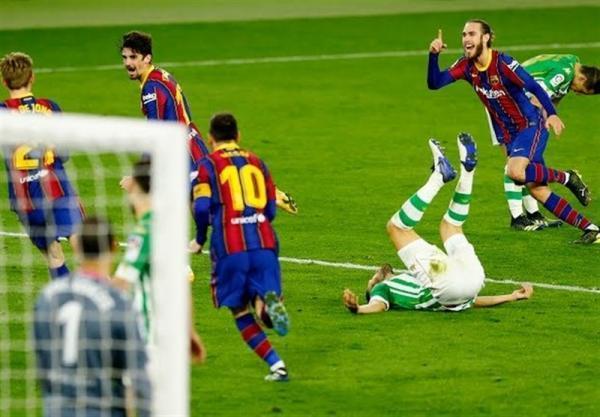 تداوم پیروزی های متوالی بارسلونا با فتح خانه بتیس